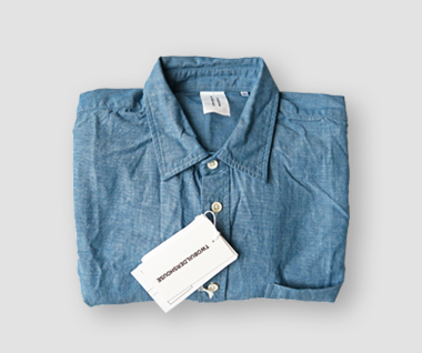 Organic Cotton Chambray Shirt (Blue)