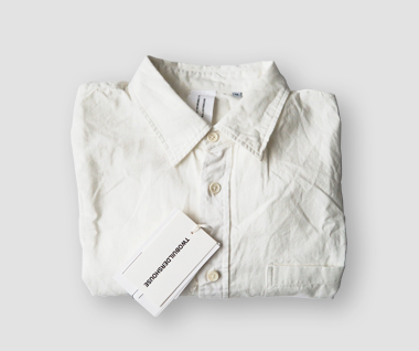 Organic Cotton Chambray Shirt (White)