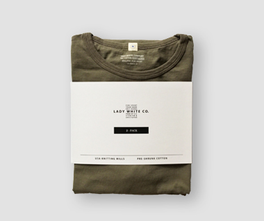 2 Pack T-Shirt (Olive)