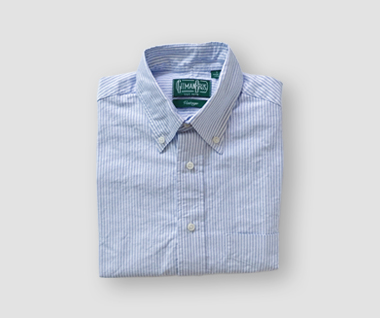Oxford Shirt (Blue Stripe)