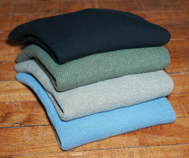 Cashmere 2 Yarns Ribbed Raglan Sweater (4 Colors)