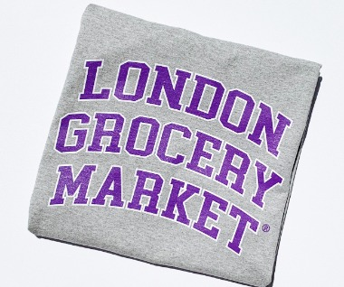 College Logo Heavyweight Tee (Grey/Purple/White)