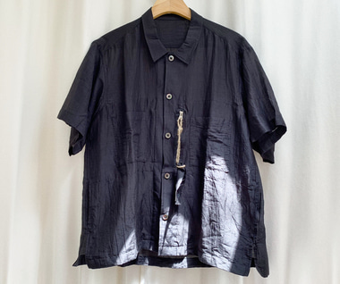 6 Pockets Short Sleeve Shirt (Black)