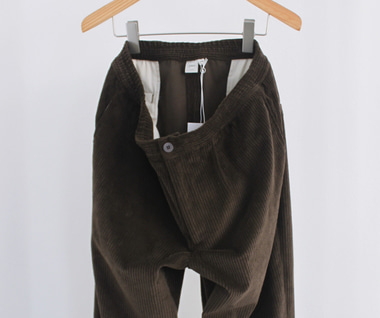 Wide Wale Trouser (Brown Corduroy)