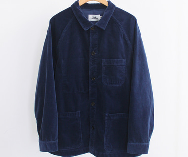 Cord Work Jacket (Indigo Blue)