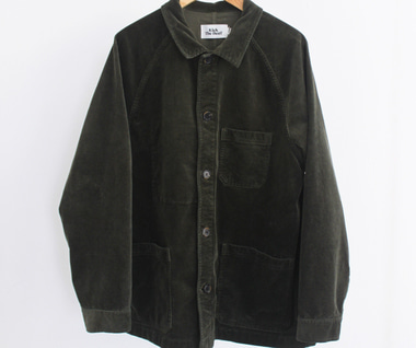 Cord Work Jacket (Deep Olive)