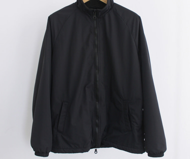 Warm Up Jacket (Black Nylon Tussah)