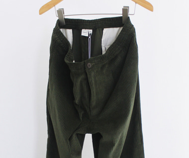 Wide Wale Trouser (Olive Corduroy)
