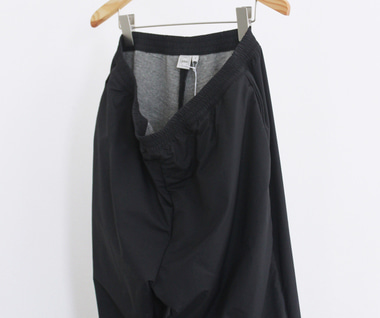 Windbreaker Pant (Black Nylon Tussah)