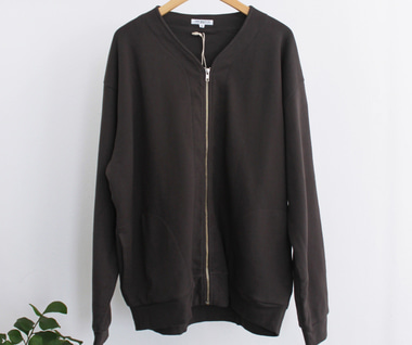 Layered Zip Jacket (Faded Black)