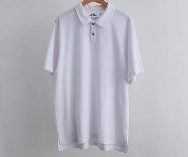 Terry Polo Shirt (White)
