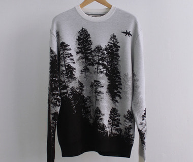 Treescape Sweater (Black/White)