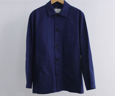 French Worker Serge Atelier Jacket (Blue)