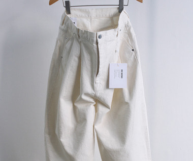 Pleated Denim (White Jeans)