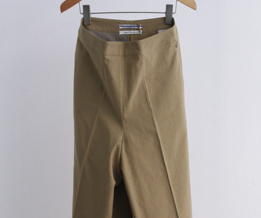 Japanese Cotton & Linen Pantskirt (Light Khaki)