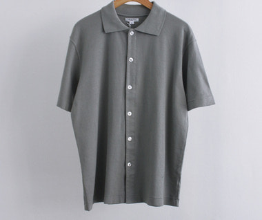 S/S Placket Polo (Steel Grey)